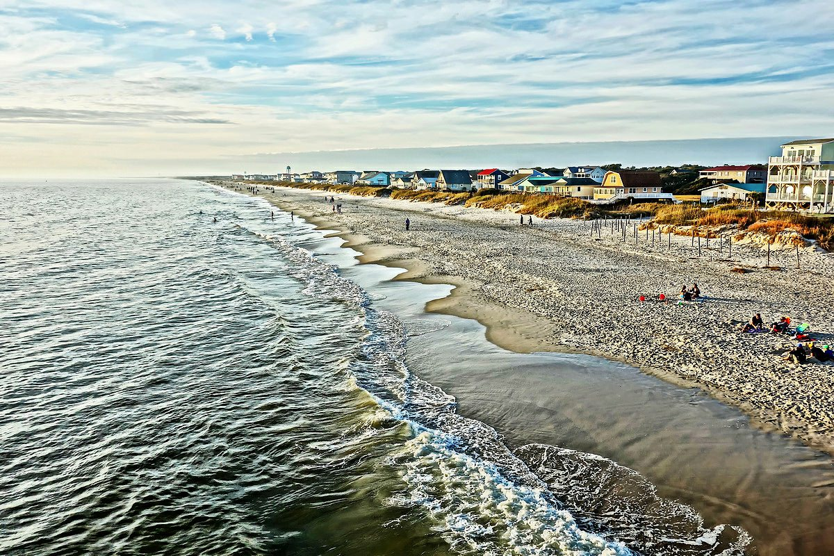 Oak Island Pier Wide View